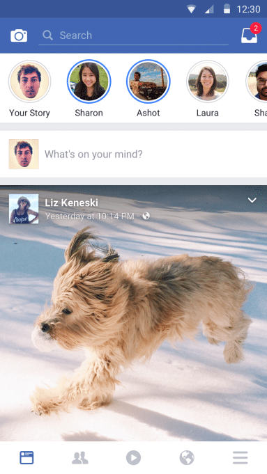Facebook Stories auf Android