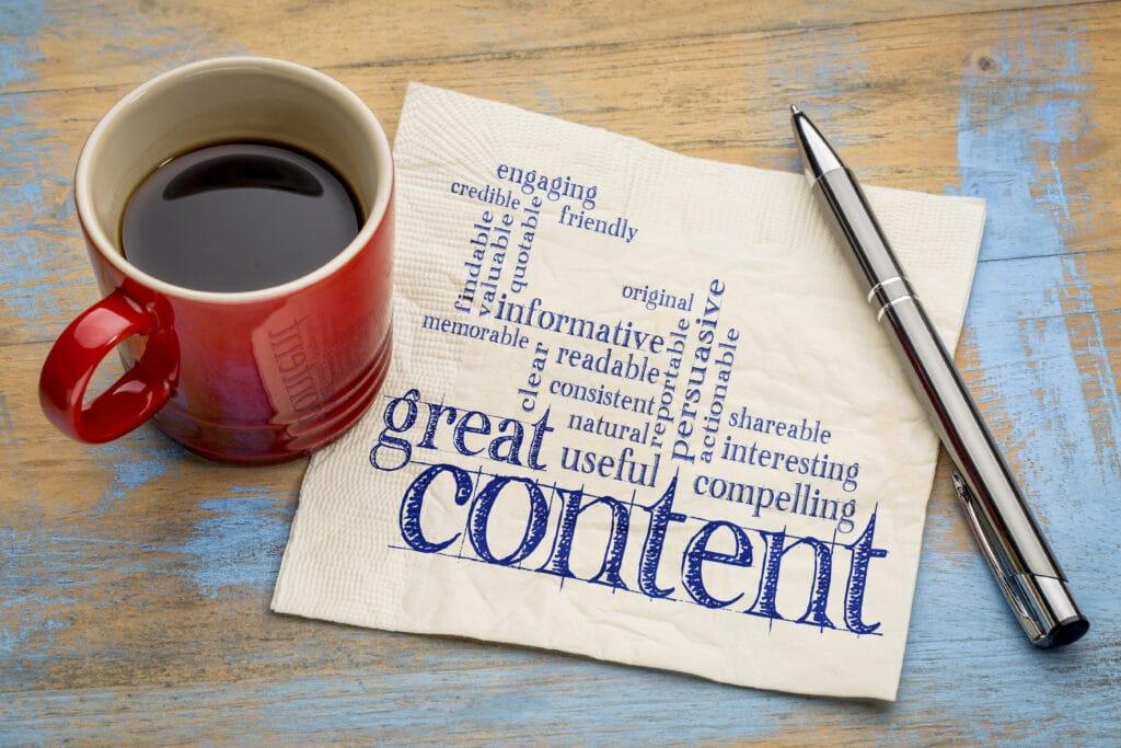 Bild Great Content für Storytelling und Chatbot