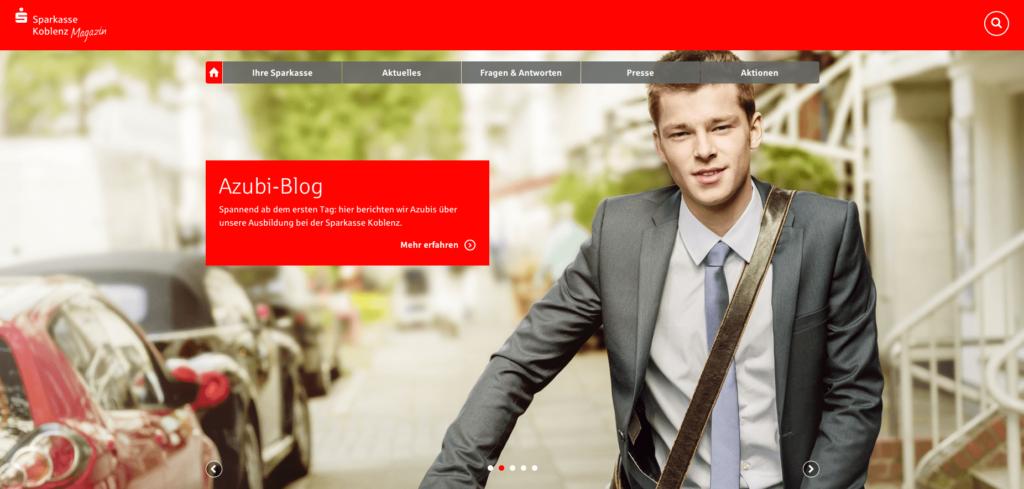 Beispiel für ein Online-Magazin: Sparkasse Koblenz