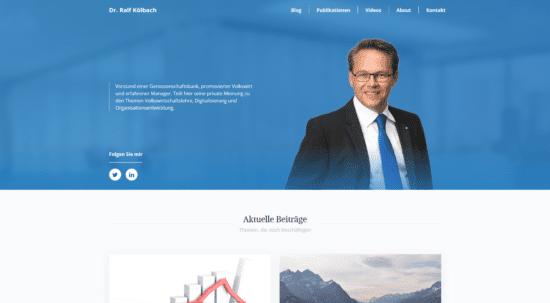 Screenshot Website Ralf Kölbach