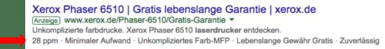 Foto: Google AdWords: Zusatzinformations-Erweiterung