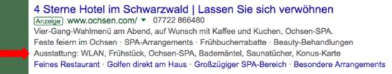 Foto: Google AdWords: Snippet-Erweiterung