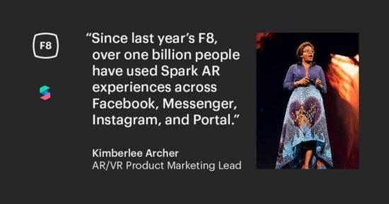 Bild: Zitat von Kimberlee Archer über Spark AR