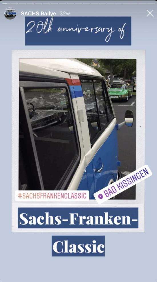 Instagram Story mit Geotag und Hashtag