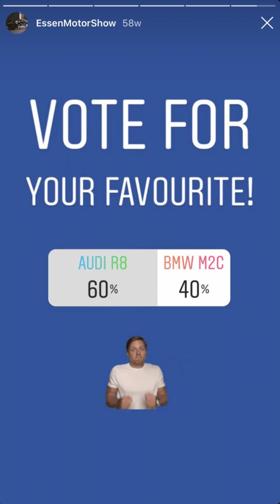 Instagram Story mit Instagram-Abstimmung