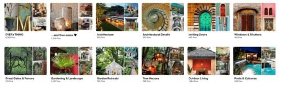 Abbildung: Gestaltung von Pinnwänden auf Pinterest