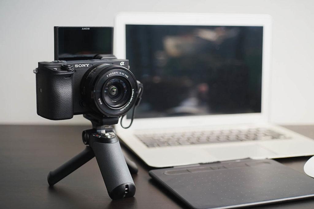 Abbildung: Sony A6400 für ein Webmeeting