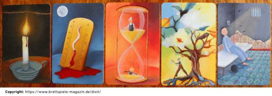 Abbildung zu Kreativität fördern: Screenshot des Spiels Dixit