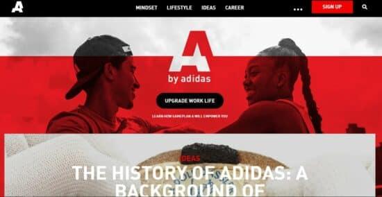 Abbildung: Der Blog des Unternehmen Adidas als Beispiel für einen Corporate Blog