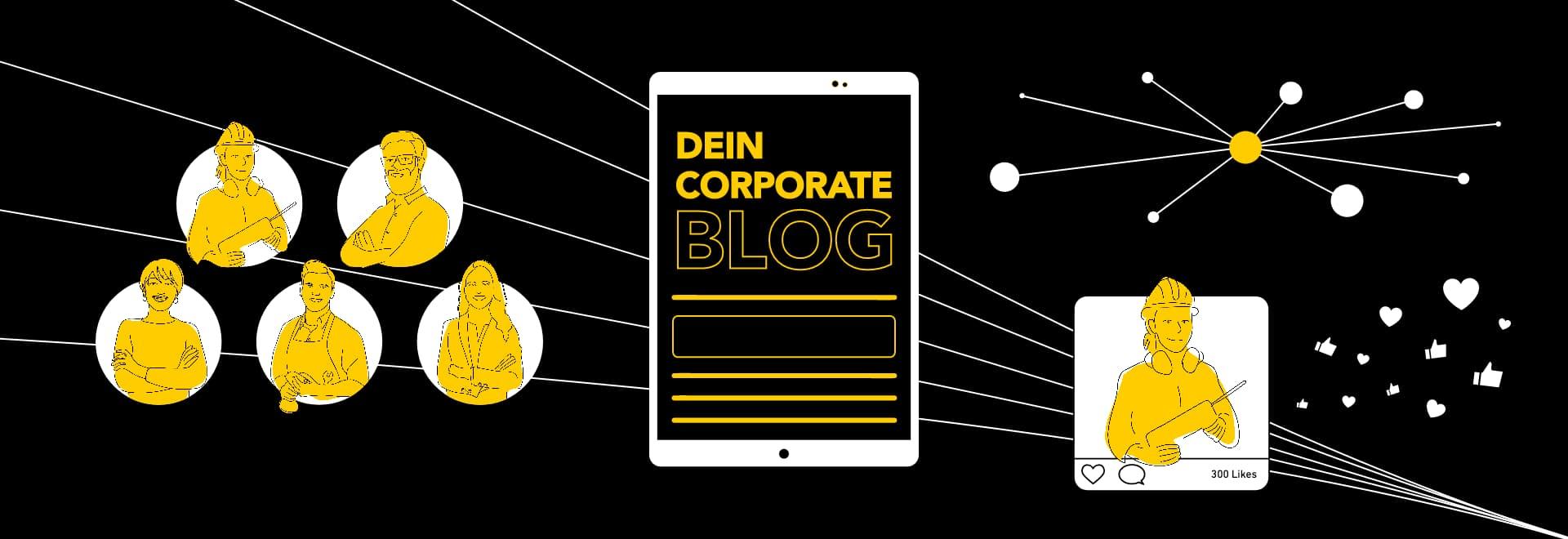 Abbildung: Corporate Blog als Grundlage für Social-Media-Kommunikation